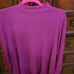 New Lane Bryant blouse 14/16 maroon color